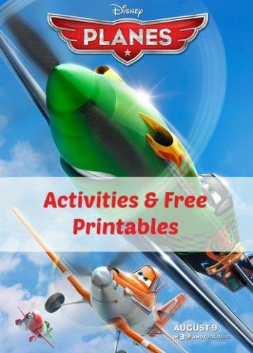 Free Disney Planes printables- tons of cute printables, craft ideas, snacks and more. Lots of ideas for a Planes party!