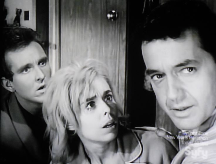 """Robert Sampson, Sarah Marshall and Charles Aidman in """"Little Girl Lost."""""""