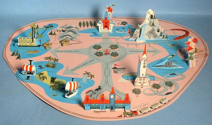 vintage Disneyland pop-up map - Finding one of these in an estate has just become a goal!!