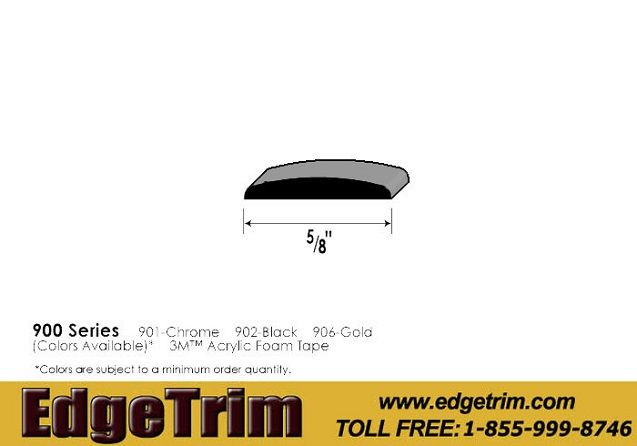 EdgeTrim.com Decorative Plastic Trims are made with flexible pvc and come in many shapes, sizes and colors. Decorative Plastic Trims can be used in a variety of applications and are attached with 3M Acrylic Foam Tape. Decorative Plastic Trim protects and beautifies. Check out our website for more details. www.edgetrim.com