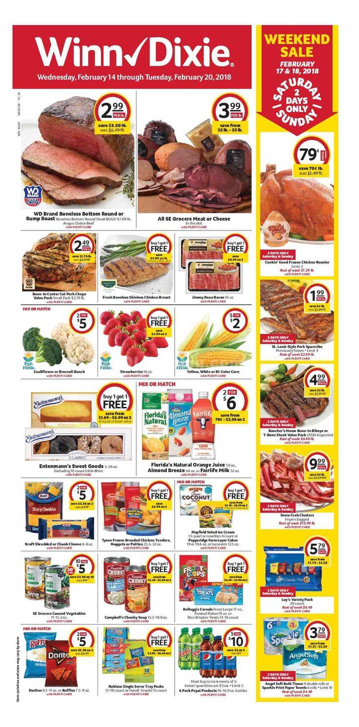 Winn Dixie Weekly Ad February 14 - 20, 2018 - http://www.olcatalog.com/grocery/winn-dixie-weekly-ad.html