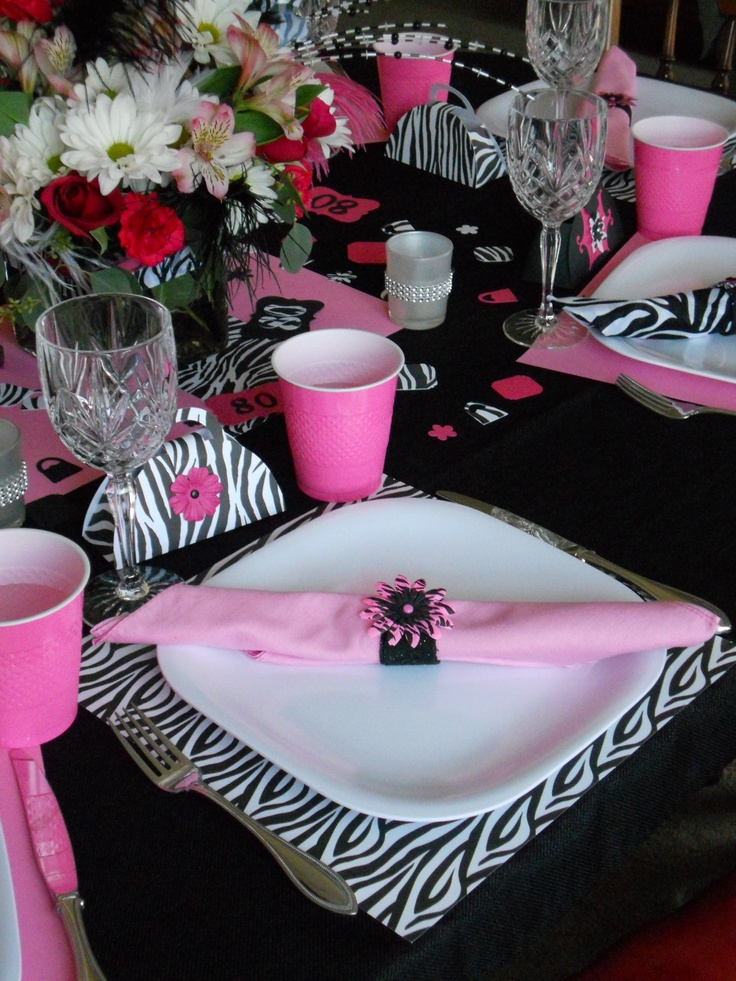 Our Table Setting For Grandma S Fabulous 80th Birthday