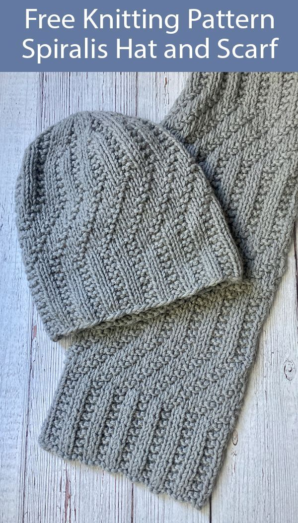 Free Knitting Patterns For Spiralis Hat And Scarf Mens Hat Knitting Pattern Scarf Knitting Patterns Knitting Patterns Free Hats