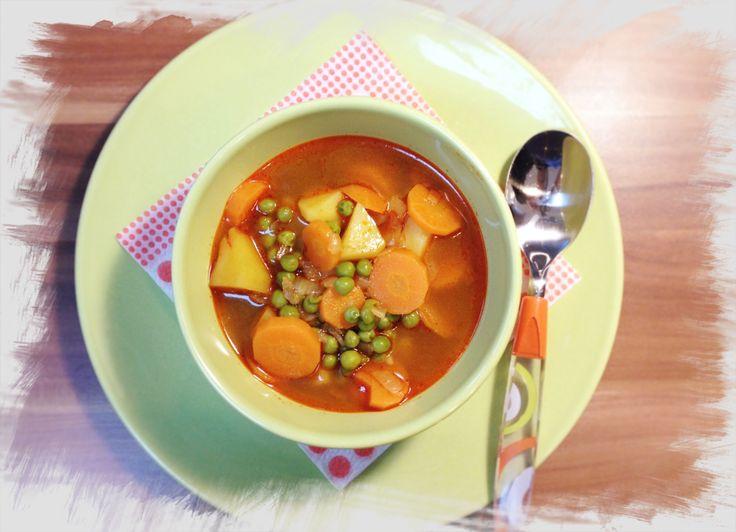 Zöldborsó leves unokai segítséggel (Peas soup with my grandchild help)