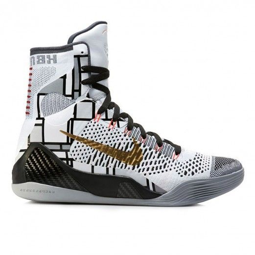 Nike Kobe 9 Flyknit Mid Gold Collection 630847-100 Sneakers — Basketball Shoes at CrookedTongues.com
