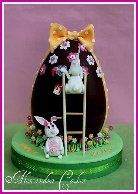 Easter Egg. Uovo di Pasqua -Happy Easter!!!! by Alessandra Cake Designer, via Flickr