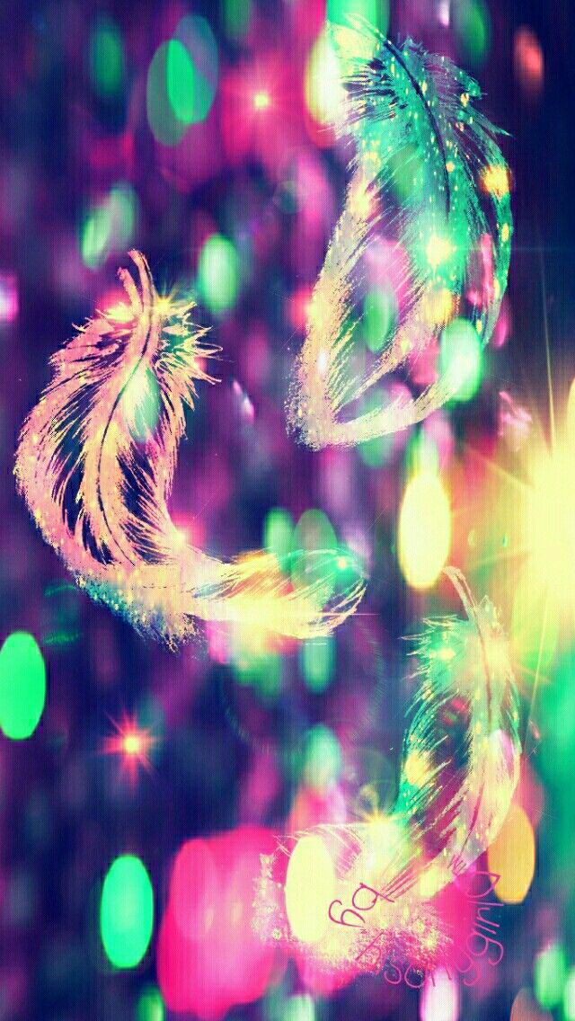 Feather bokeh wallpaper I created for the app CocoPPa.