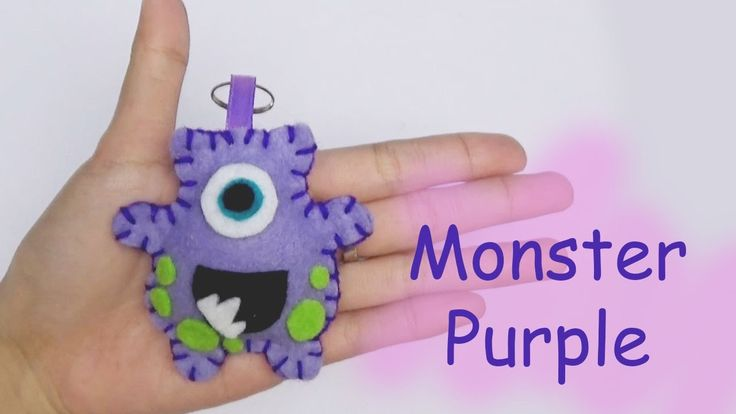 Monster Friends Purple Craft For Kids - Easy Craft Handmade - Nursery Rh...