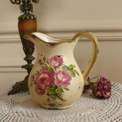 decoupage en ceramica