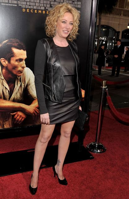 Celebrities In Leather Virginia Madsen Wears A Black