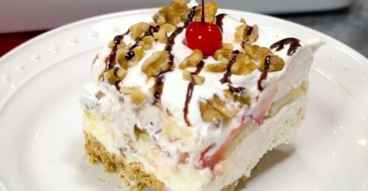 """Un rêve devenu réalité... Le gâteau """"banana split"""" qui dépasse toutes les attentes!"""