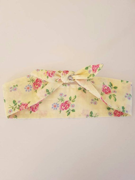Check out this item in my Etsy shop https://www.etsy.com/au/listing/509638601/floral-headband-cream-tie-up-headband