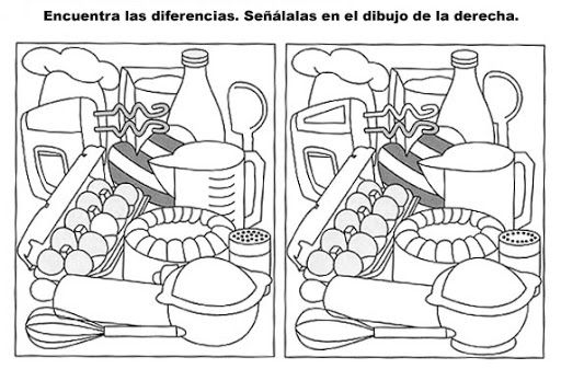 Resultado de imagen para dibujos para encontrar diferencias para niños