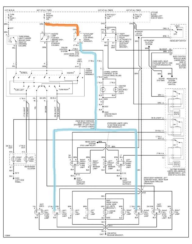 1996 1999 Camaro Tail Light Wiring Diagram In 2020