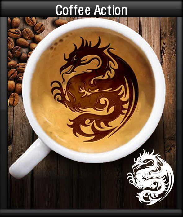 GraficAction | Coffee Photoshop Action