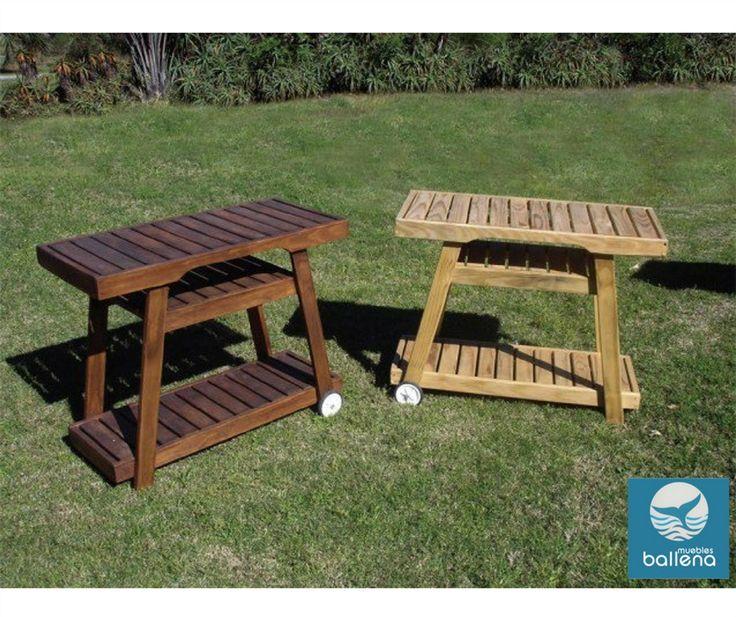 Mesas de servicio para jardín y piscina