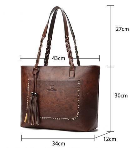 Classic Tassel Braid Tote Handbag
