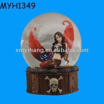 Populaire hars decoratieve mermaid water globe