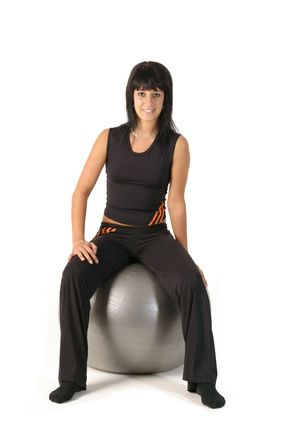 You need so much muscle to ride a horse. When you're not on an actual horse, why not simulate it with a ball and exercise those muscles?