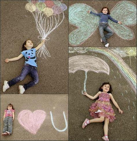 Raus mit den Kindern an die Luft im #Frühling und die bunte Kreide nicht vergessen! #Freizeit #Familie