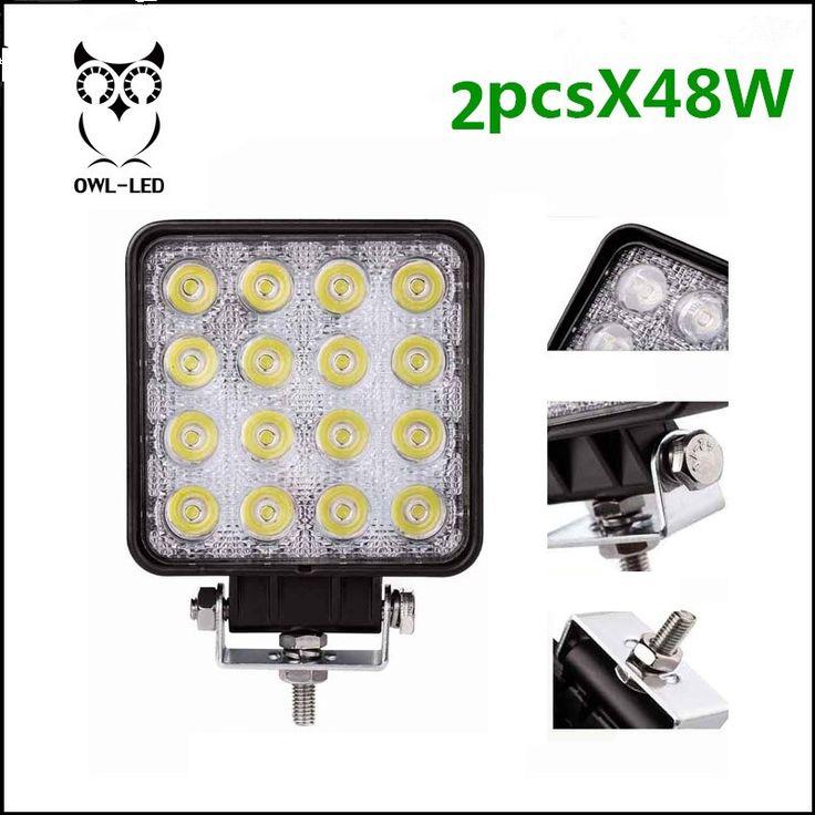 37.14$  Buy now - http://aligo8.shopchina.info/go.php?t=32795067365 - 2pcs suv 4x4 offroad 48W led work light for truck,10V-30v 4x4 Driving Lights FLOOD beam tractor offroad lights 37.14$ #magazine