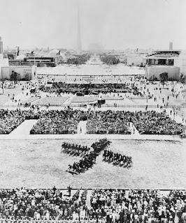 1939 RCMP Musical Ride performing at the World's Fair in New York.