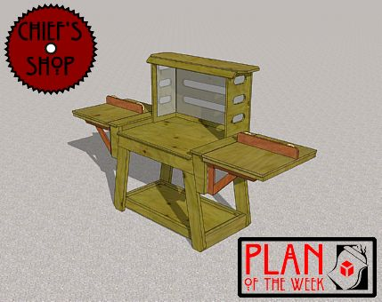 Miter Saw Stand - all three parts.                                                                                                                                                                                                                                                                                                                                               This projects is in three parts. Click on the images below to access the plans.