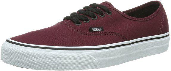 Vans Authentic VQER5U8 - Zapatillas de deporte de tela unisex, color borgoña, talla 50