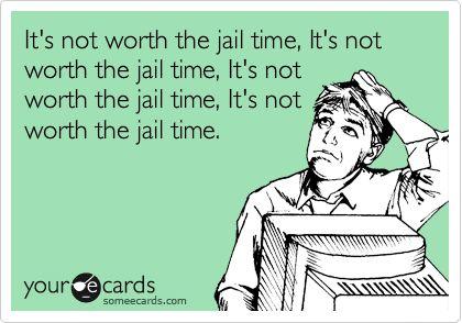 Prison orange is not my color!