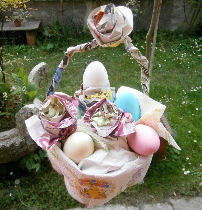 Cestino pasquale con materiale riciclato http://wp.me/p3YYWE-En