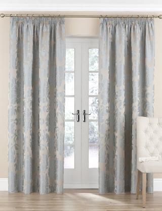 Damask Floral Curtains-Marks & Spencer