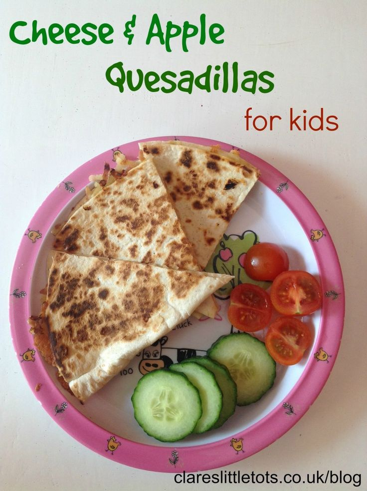 Cheese and Apple Quesadillas for kids. Healthy and easy to make alternative to sandwiches and great for fussy eaters. (Apple Recipes For Kids)