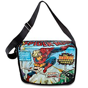 Comic Print Spider-Man Messenger Bag   Marvel  Comic Print Spider-Man Messenger Bag - The Amazing Spider-Man can carry a small girl as well as your day-to-day valuables in this Marvel-ous messenger bag. The comic book cover opens to reveal a spacious compartment for all your super stuff!