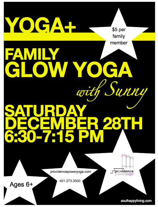 Family Black Light yoga event…it's back in January!