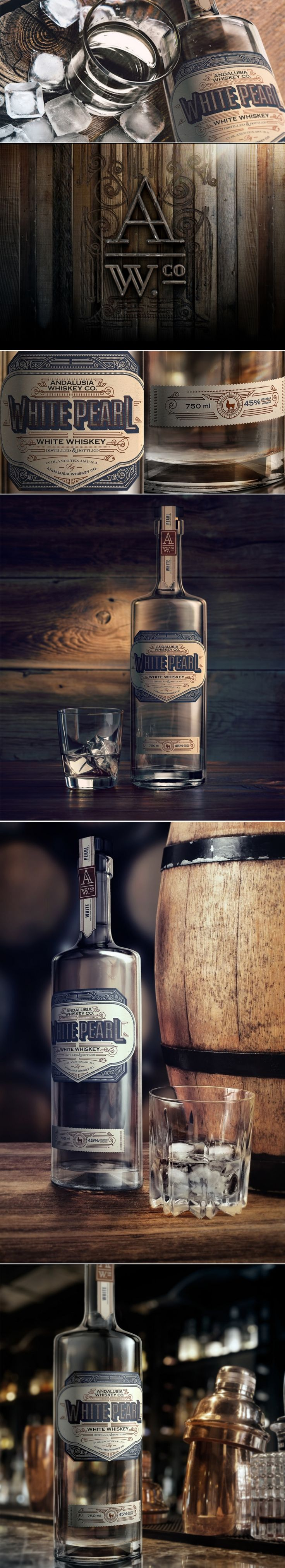 White Pearl by Andalusia Whiskey Co. — The Dieline | Packaging & Branding Design & Innovation News