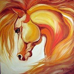 GOLD ~ EQUINE ART  Marcia Baldwin
