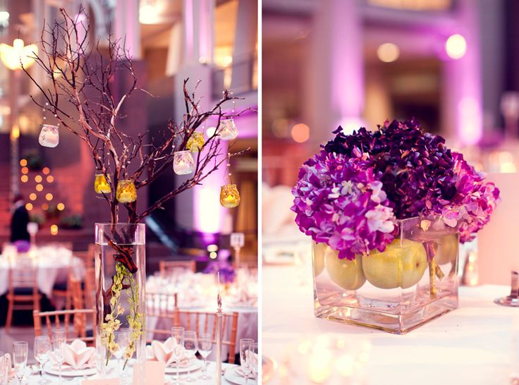 Purple Hydrangea Centerpiece: Centerpiece Ideas, Building, Art Purple, Shorts Centerpieces, Flowers 10 06 12, Pretty Flowers, Purple Hydrangeas Centerpieces, Branches, Purple Hydrangea Centerpieces