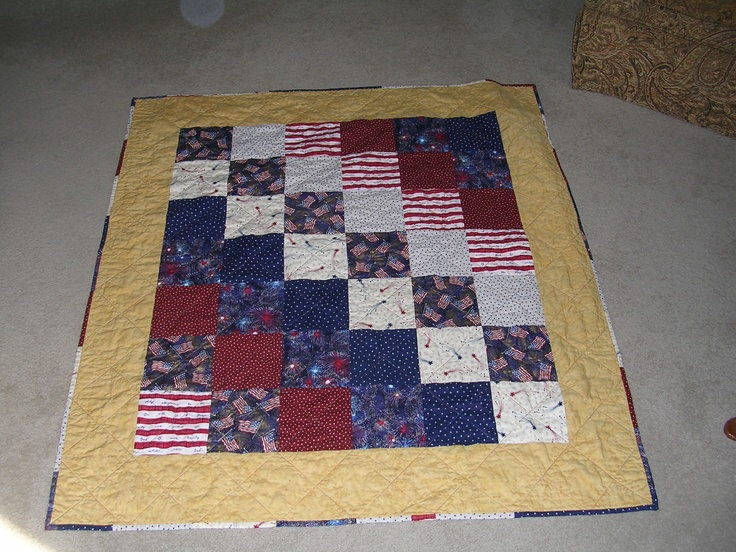 A Patriotic Lap Quilt For A Veteran Sewing And Quilting