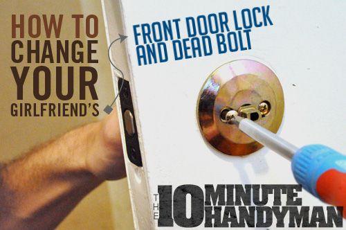 How to Change Your Girlfriend's Front Door Lock and Deadbolt | Primer