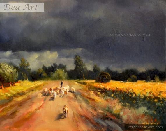 "Картина ""След бурята"" от Божидар Чантарски"