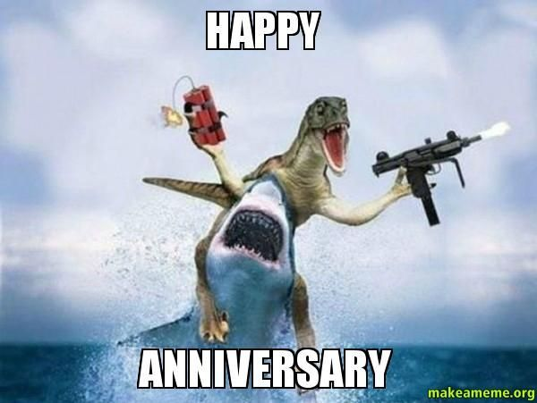 Best Happy Anniversary Meme And Funny Images On Memesbams Com Happy Anniversary Funny Happy Anniversary Meme Anniversary Funny