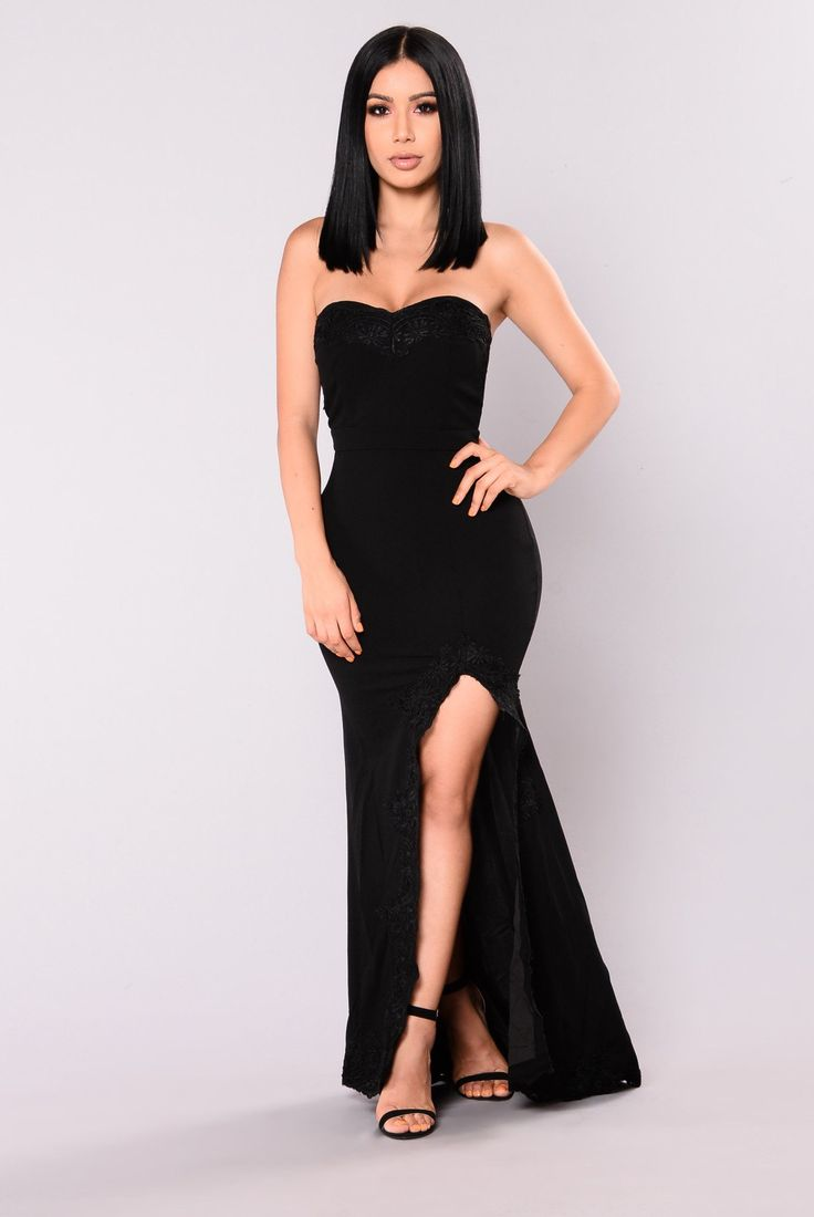 Shot At Love Maxi Dress Black In 2019 Dresses Strapless Dress Formal