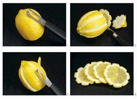 fancy lemon slices
