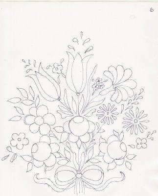 Riscos Bauernmalerei Pintura em Tecido - Pintura em Tecido Passo a Passo Com Fotos
