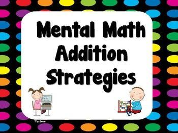 This product is part of two bundles! Check it out here: Mental Math Strategies Bundle & Mental Math Strategies Posters Bundle