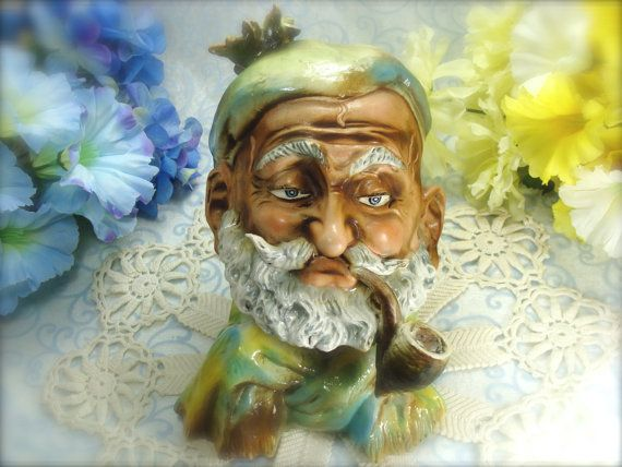 Spectacular Capodimonte Man Smoking Pipe Hand by HappyGalsVintage