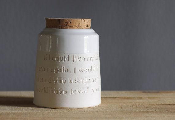 {custom quote pet urn} such a beautiful + simple way to keep our loved ones (pet or otherwise!) ashes - but also, can be used in other ways to keep a memory.