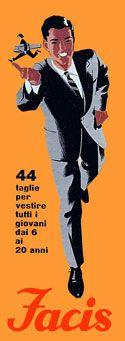 1956 Armando Testa manifesto l'azienda Facis