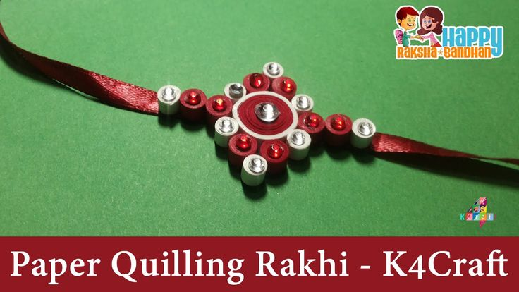 "DIY: Rakhi Making - Paper Quilling + Stone ""Rakhi"" video - Raksha Bandhan"