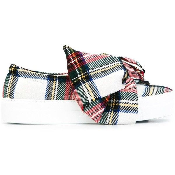 Joshua Sanders plaid slip-on sneakers (£285) ❤ liked on Polyvore featuring shoes, sneakers, plaid slip on sneakers, plaid sneakers, colorful sneakers, slip-on shoes and pull-on sneakers